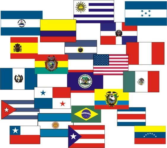 Spanish Speaking Countries Flags http://www.hearttechnology.com/